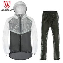 WHEEL UP 2018 MEN Waterproof Cycling jacket MTB Bike Motorcycle Bike Jersey Anti-Sweat Reflective bicycle Clothing Raincoat