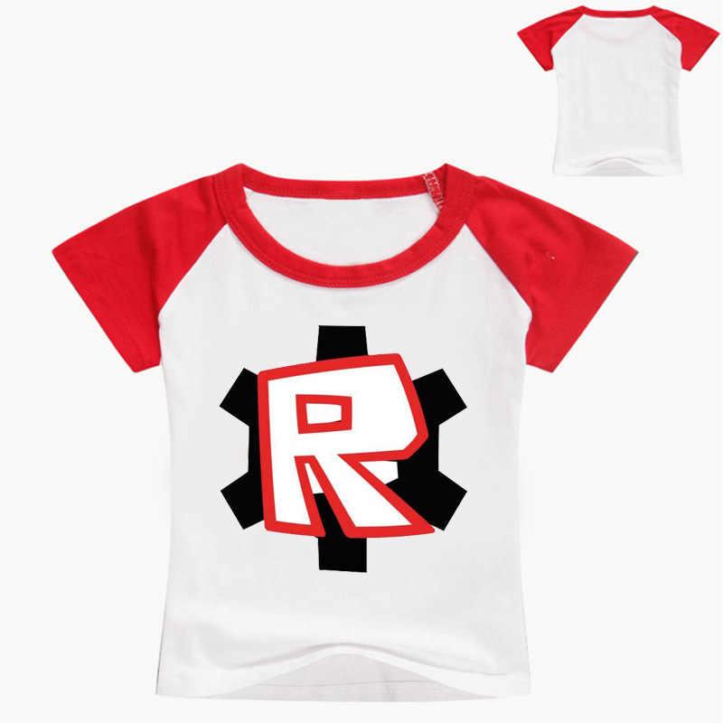 2-16Years Nununu Game Roblox 2019 T Shirts Kids Tshirt Teenager Boys  Clothes Baby T-shirt Tee Shirt Fille Girls Tops Model Nova