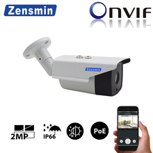 Zensmin H.265 2MP 1080P PoE IP Camera 48V2A poe day nightvision 30m IR distance IP66 outdoor p2p cloud app  network cctv camera