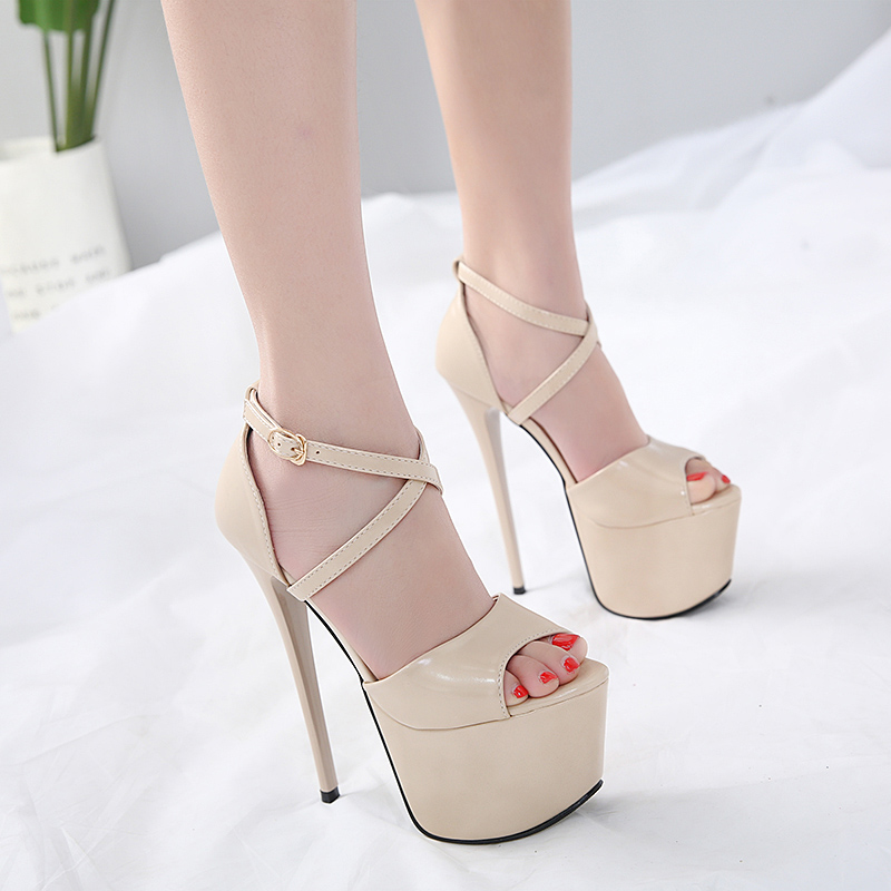 2018 New Summer Sexy Women Pumps Sandals High Heels 16CM Fashion Stripper  Shoes Party Pumps Women Platform Pole Dancing Sandals-in High Heels from  Shoes on ... 1512249b19d5