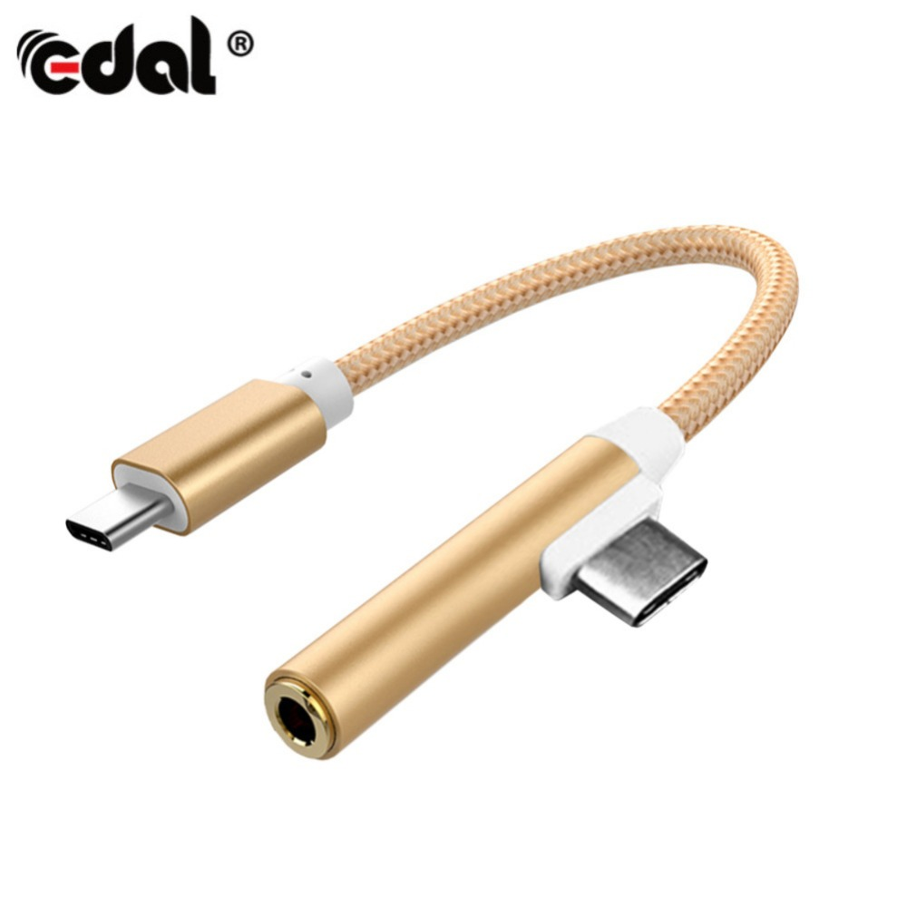 EDAL Type C to 3 5mm Earphone Audio Cable Adapter USB C Type C Audio Charging