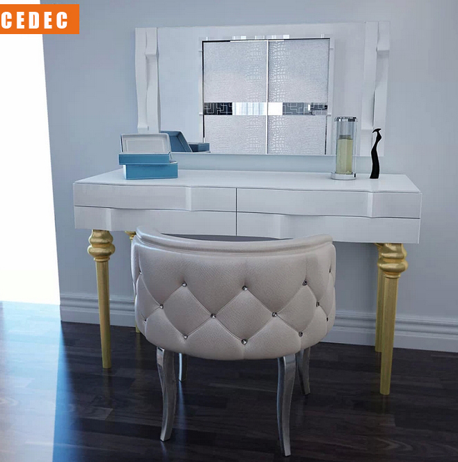 Merveilleux (1 Dresser Table +mirror+chair) /lot Modern Dresser Stand With Mirror And  Chair #CE 989 In Dressers From Furniture On Aliexpress.com | Alibaba Group