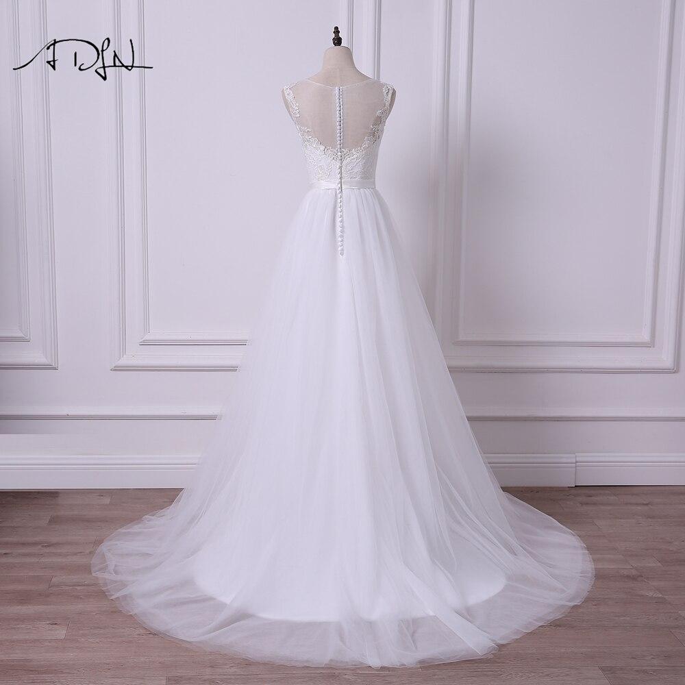 ADLN Scoop Αμάνικο φόρεμα Νέο A-line Γάμος - Γαμήλια φορέματα - Φωτογραφία 2