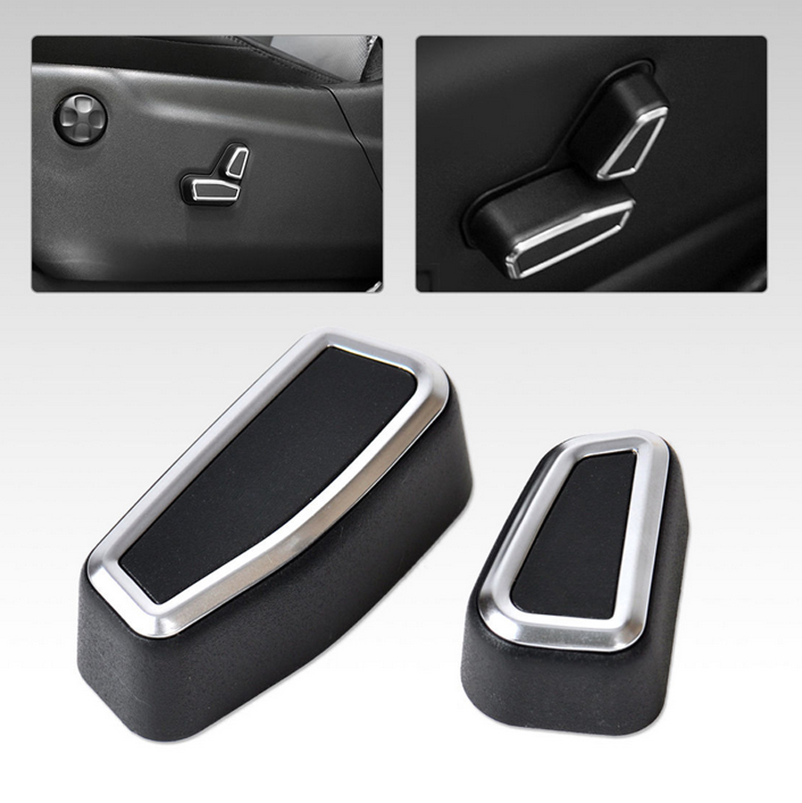 For Jeep Grand Cherokee 2011 2012 2013 2014 2015 Seat Adjustment Button Decoration Cover Car Stickers Accessories Styling Trim stainless steel strips for toyota highlander 2011 2012 2013 car styling full window trim decoration oem 16 8