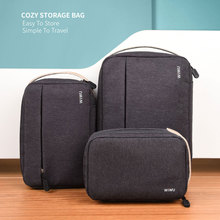 WIWU Portable Hard Drive Case Water-resistance Nylon Storage Box Carrying Case Power Bank Headphone USB Cable Exteral Storage цены