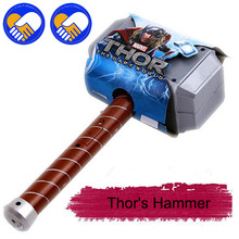 купить A TOY A DREAM 1 Piece 27cm Approx New Thor's Hammer Toys Thor Custome Thor Cosplay Hammer Great Gift Toys Model For Children по цене 577.06 рублей