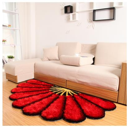 80X150 см утолщенные секторные ковры для спальни, современные 3D коврики с изображением цветов и ковров, диван-пол, детский игровой коврик, половик с цветочным рисунком - Цвет: Красный