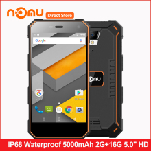 "Original NOMU S10 IP68 Waterproof 4G LTE Smartphone Android 6.0 5000mAh Quad Core MTK6737 5.0"" HD 2GB RAM 16GB ROM Mobile Phone"