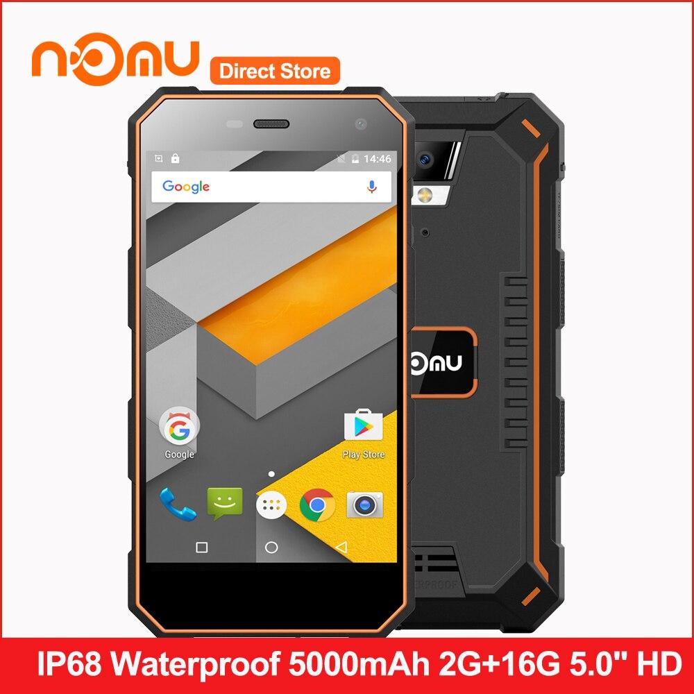 """Цена за Оригинал НОМУ S10 IP68 Водонепроницаемый 4 Г LTE Смартфон Android 6.0 5000 мАч Quad Core MTK6737 5.0 """"HD 2 ГБ RAM 16 ГБ ROM Мобильный Телефон"""