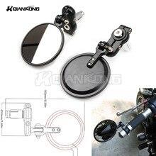 Universal Motorbike 7/8 22mm modified Billet handle Bar Rearview Mirror For Suzuki SV650/S Ducati 899 1199 1299 Panigale S
