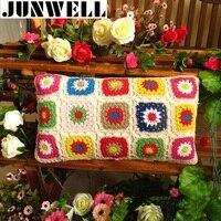 100% Bawełna Crochet Rzuć Poduszka Sofa Poduszki 25X45 CM Odwracalny Biura Poduszka Baby Room Dekoracyjne 45x45 cm Kwadratowych