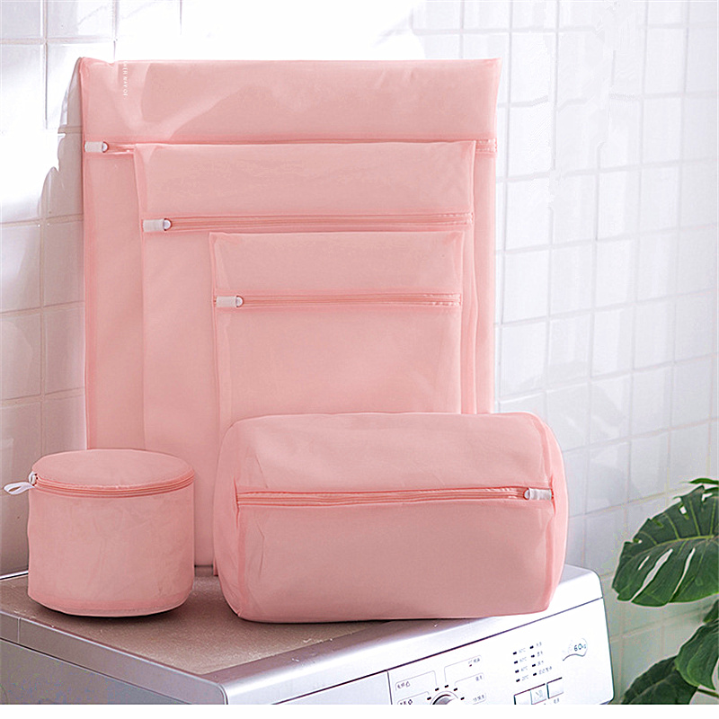 Zippered Laundry Wash Bags For Washing Machine Mesh Polyester Underwear Sock Bra Washing Bag Travel Lingerie Clothes Storage Bag