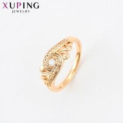 Xuping prawdziwy strzał mała świeża syntetyczna sześcienna cyrkonia złoty kolorowy platerowany biżuteria luksusowe pierścionki dla kobiet 15911
