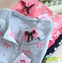 2014 New Hot Sale Sweet Long Sleeve Girls Sweaters Coat Girl 4 Colors