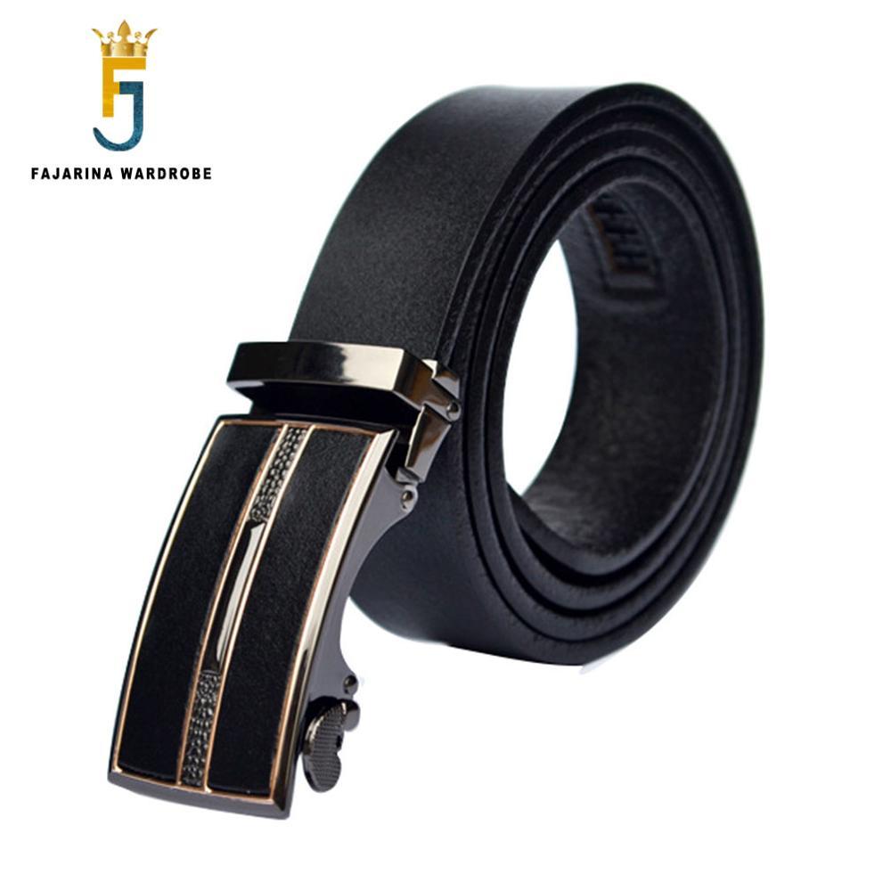 FAJARINA Grade Formal 100% Cowhide Genuine Brand Name Strap Leather - Apparel Accessories