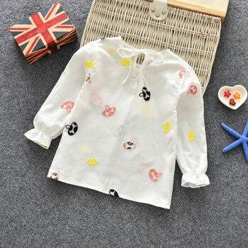 Camisetas florales para niñas recién nacidas 2018 otoño cuello ...