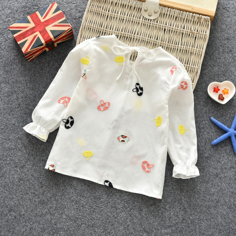 Floral Newborn Girls T-Shirts 2018 Autumn O-neck Cartoon Mushroom Kids T Shirt for Infant Girl Cotton Sweet Baby Clothing 4ss011 baby body new real fashion unisex floral full o neck 2018 baby boy pants suit cotton clothing overalls infant autumn pieces