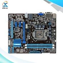 Для p8h61-m plus оригинальный используется для рабочего материнская плата для intel h61 сокет uATX LGA 1155 Для i3 i5 i7 DDR3 16 Г На Продажу