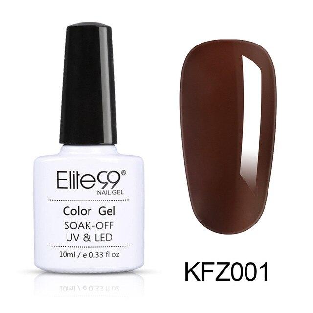 Elite99 10ml Braun Farbe UV Gel Tränken Weg UV Gel Lack Nagel Kunst Maniküre Vernis Semi Permanent Primer gel Nagellack