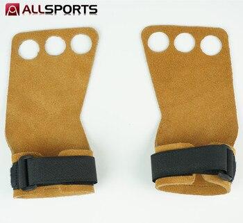 OEM GYM Gewichtheffen Lederen barbell pull up Hand Grip Workout Sport Bodybuilding Fitness hand Handschoenen