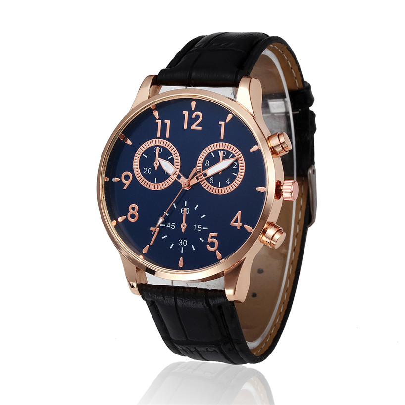 2017 Men's Watch Retro Design Leather Band Analog Alloy Quartz Wrist Watch Gift relogio feminino dropshopping free shipping#40 fabulous 1pc new women watches retro design leather band simple design hot style analog alloy quartz wrist watch women relogio