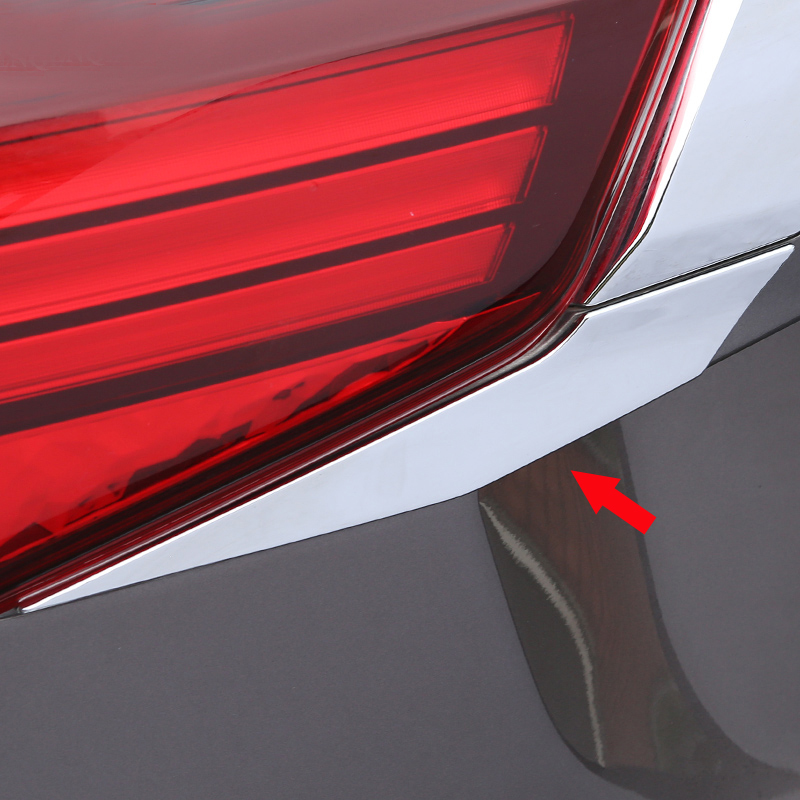 Image 3 - For Mitsubishi Outlander 2016 2017 2018 Rear Light Strips ABS Chrome External Taillight Decoration Cover Trim Car styling  C363-in Chromium Styling from Automobiles & Motorcycles