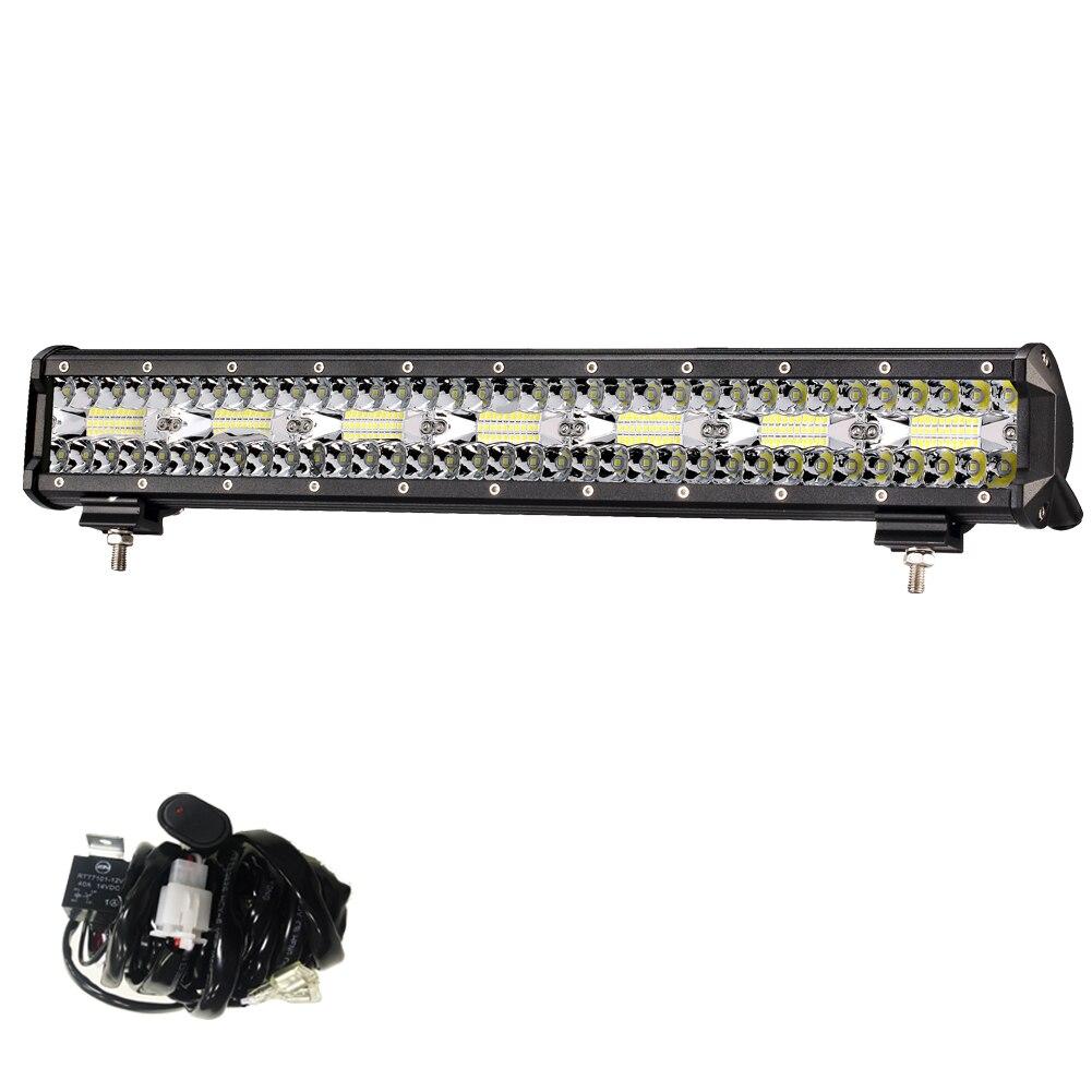 23 Pouces 480 W LED Light Work Bar Combo DC 12 V 24 V LED Bar Offroad Pour Jeep 4x4 4WD Bateaux ATV SUV Camion LED poutres