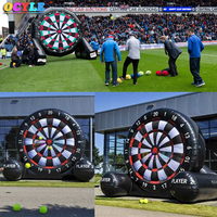 Hot black Adult child 2.5m/8.2ft height inflatable dart board inflatable football soccer dart board inflatable soccer darts game
