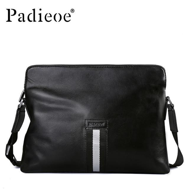 1ec1bc729b91 Padieoe Wholesale Luxury Genuine Cow Leather Men Handbag New Arrival Male  Shoulder Crossbody Bag Business Man Casual Handbags