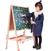 Children's drawing board, double side magnetic blackboard bracket,children home teaching board painting, graffiti, writing board
