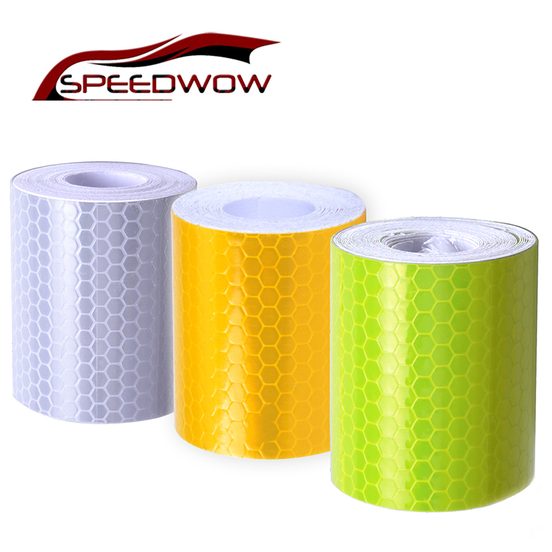 5cmx300cm Car Styling Safety Mark Reflective Tape Stickers Self Adhesive Warning Reflective Film Tape For Automobiles/Motorcycle