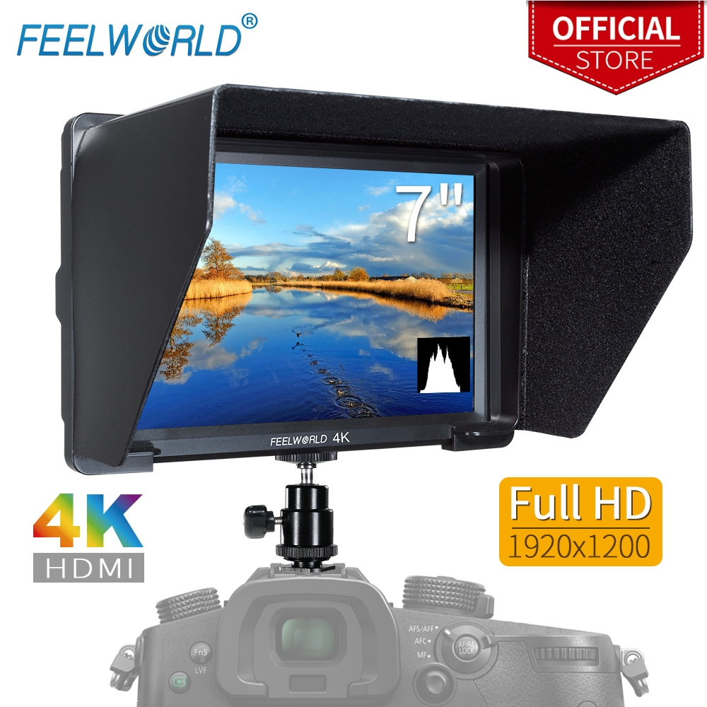 FEELWORLD T756 7 Inch 1920x1200 IPS On Camera Field Monitor Support 4K HDMI Input Output for DSLR Canon Sony Nikon ZHIYUN Gimbal