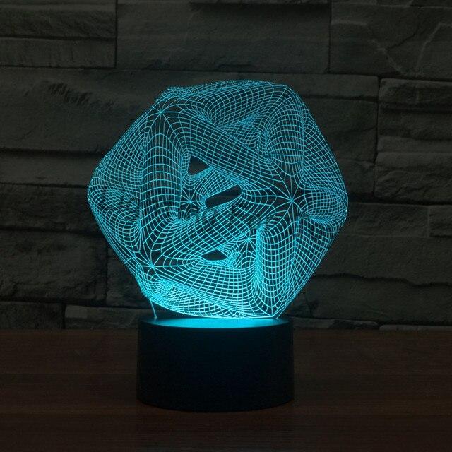 Heisser NEUER Entwurf 7 Farbwechsel 3D Licht Bulbing Handschuhe Illusion  LED Lampe Kreative Action Figur