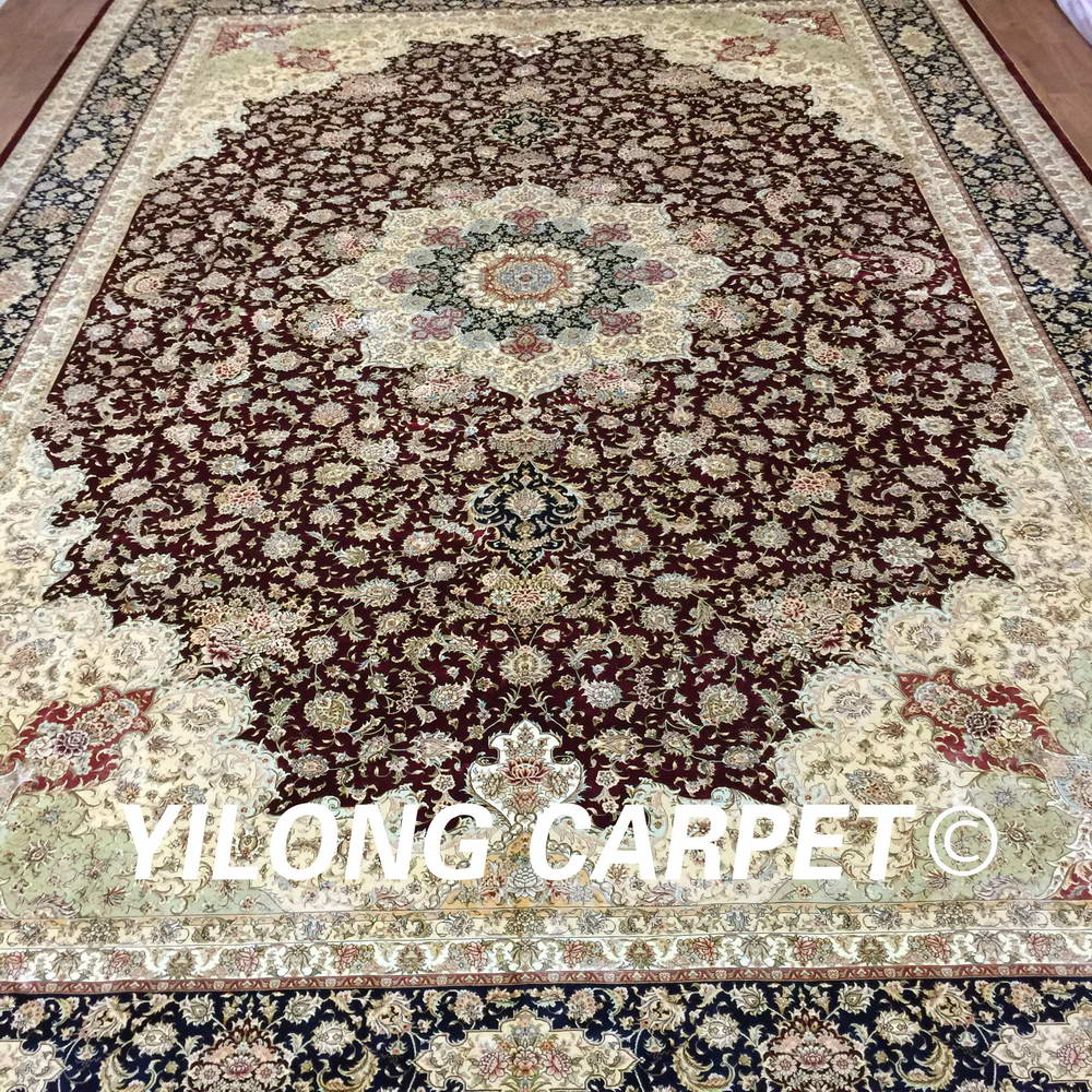 What is the best carpet to buy for the price - Yilong 12 X18 Promotion Price 2017 New Natural Silk Best Handmade Rug Red