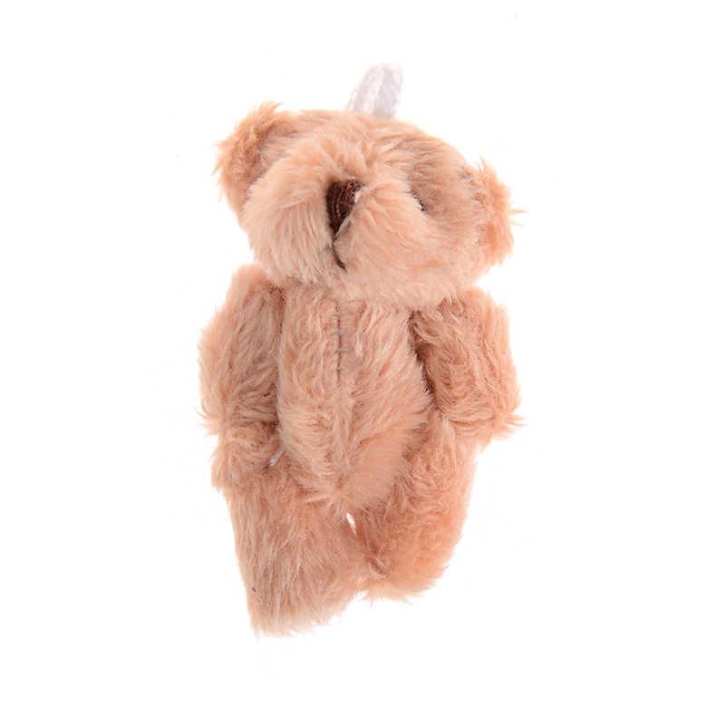 4 colores 4,5 CM Mini Junta oso de peluche de juguete suave blanco rosa marrón Oso de dibujos animados de boda regalo muñeca escritorio decoración muñeca para niños