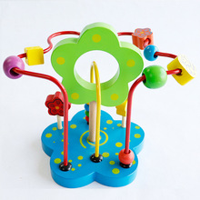 Mookids Wooden Circles Bead Maze Roller Coaster Boys Girls Montessori Bead Abacus  Wooden Toys Educational Wood Puzzles puzzles alatoys bb216 play children educational busy board toys for boys girls lace maze toywood