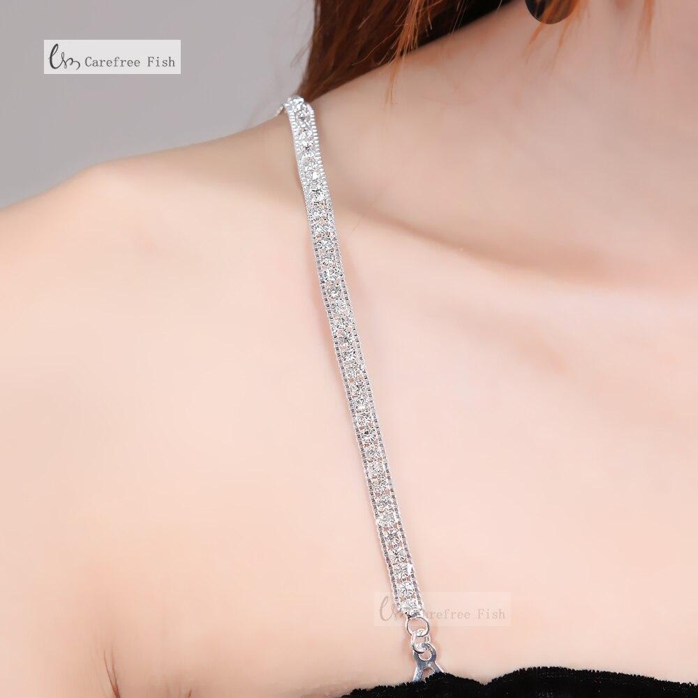 ̿̿̿(•̪ )Accesorios Correa cristalina clara ajustable magnífico prom ...