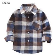27861751c4da3b Promotie Hot Koop Jongens Shirts Klassieke Toevallige Plaid Flanel Kinderen  shirts Voor 3-11 Jaar
