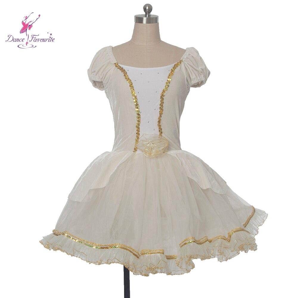 stretch ivory color velvet bodice ballet tutu! Girl and Women stage performance ballet costume ballerina dance tutu