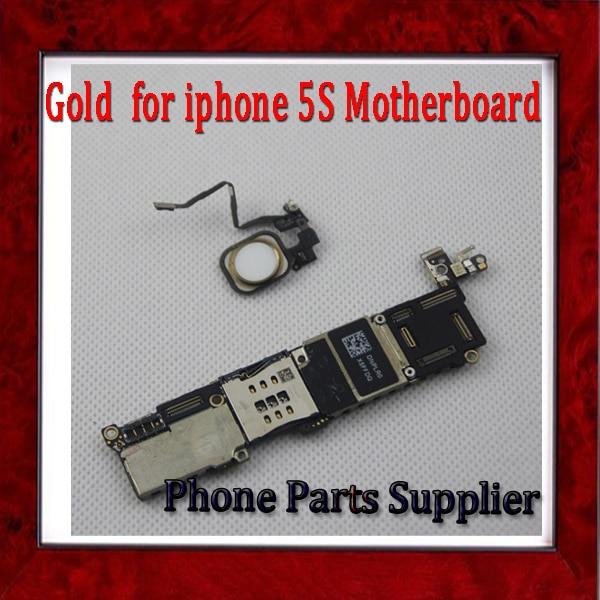 imágenes para 100% Original desbloqueado y 32 gb Oro/Blanco para el iphone 5S Motherboard con Identificación de Huellas Dactilares & Touch ID por envío Gratis