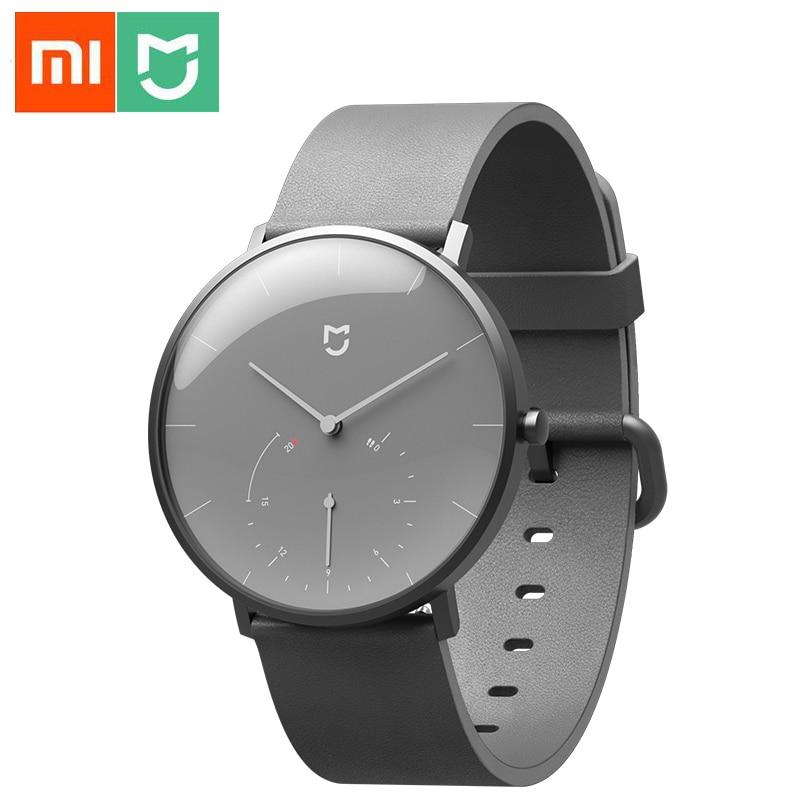 Xiaomi Mijia montre à Quartz intelligente podomètre capteur de vie étanche Bluetooth bracelet de montre rappel d'horloge vibrer pour Mijia APP