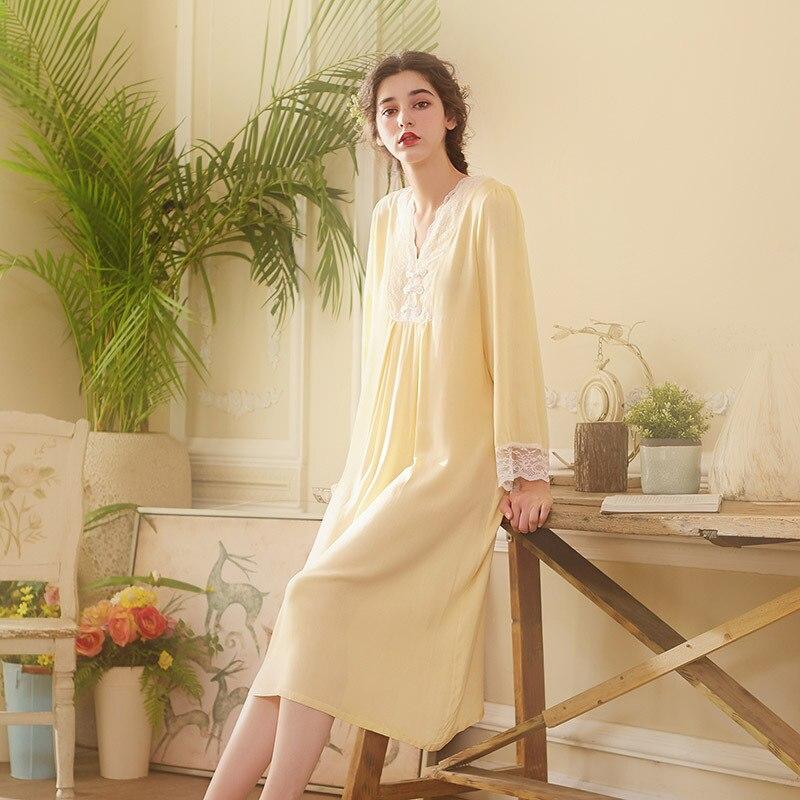 c8b0a8ce2fde 2019 nuevas mujeres primavera otoño Vestido de manga larga de alta calidad  Retro corte impresión camisa