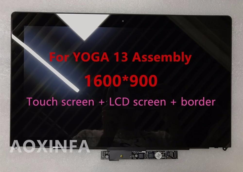 Livraison gratuite LCD D'origine Assemblée Pour IdeaPad Yoga 13 LP133WD2 (SL) (B1) LP133WD2 SLB1 Avec Lunette, 1600*900