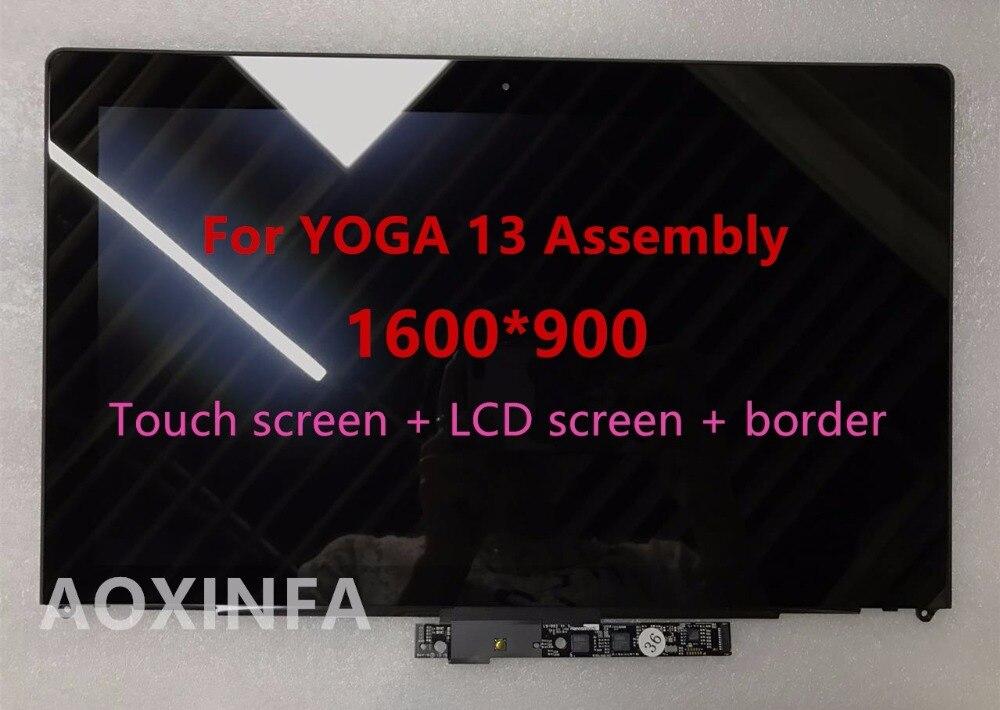Spedizione gratuita Originale Assemblea LCD Per IdeaPad Yoga 13 LP133WD2 (SL) (B1) LP133WD2 SLB1 Con Lunetta, 1600*900