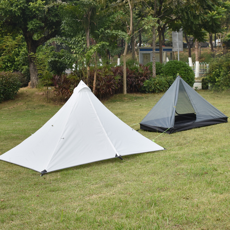 Oudoor Ultralight Camping Tent 4 Season 1 Single Person Professional 5000mm waterproof Rodless Tent цена