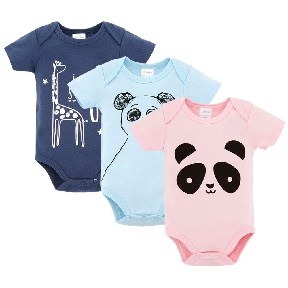 KAVKAS Summer Baby Rompers Cotton Baby Boy Clothes Baby Girl Clothes Newborn Baby Clothes Infant Jumpsuits Cool Bebe Clothes