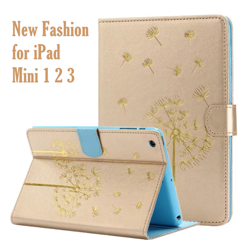 Cute Pattern Flip PU Leather Case for iPad Mini Magnetic Wallet Stand Cover for iPad Mini 2 Retina 3 Tablet Case Smart Cover lychee texture pu leather magnetic flip pouch protective case for ipad mini 2 3 white