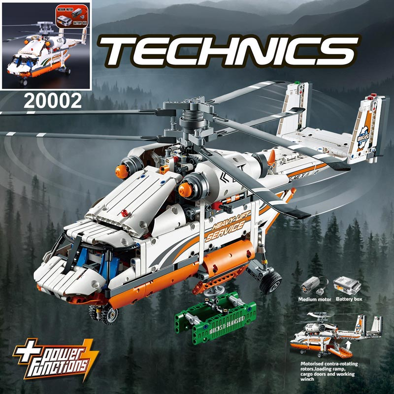 Lepin 20002 toys technic series mechanical group high load helicopter building assembling blocks toys for boys group search optimizer for economic load dispatch