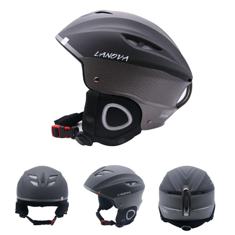 Prix pour LANOVA marque professionnel casque de ski adulte casque de ski homme de patinage/planche à roulettes casque multicolore neige sport casques