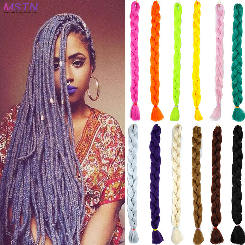 MSTN 82-inch synthetic giant braid hair 20 colors available blonde crochet fake hair extension   Headwear